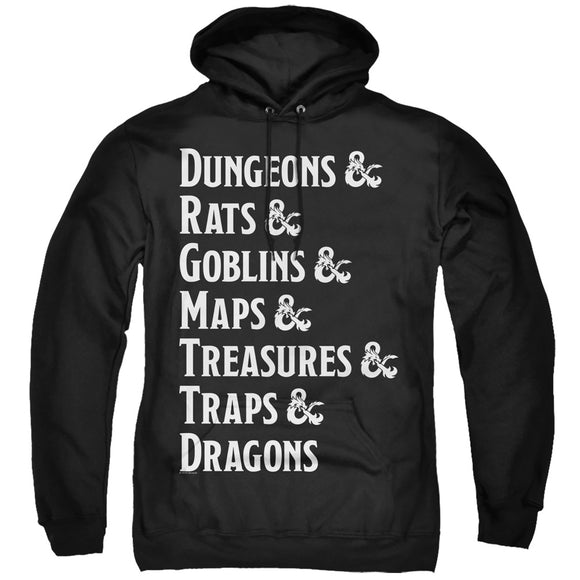 MEN'S DUNGEONS AND DRAGONS DUNGEON LIST PULLOVER HOODIE