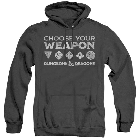 MEN'S DUNGEONS AND DRAGONS CHOOSE YOUR WEAPON HEATHER PULLOVER HOODIE