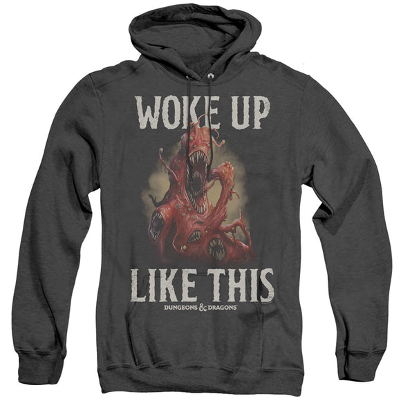 MEN'S DUNGEONS AND DRAGONS WOKE LIKE THIS HEATHER PULLOVER HOODIE