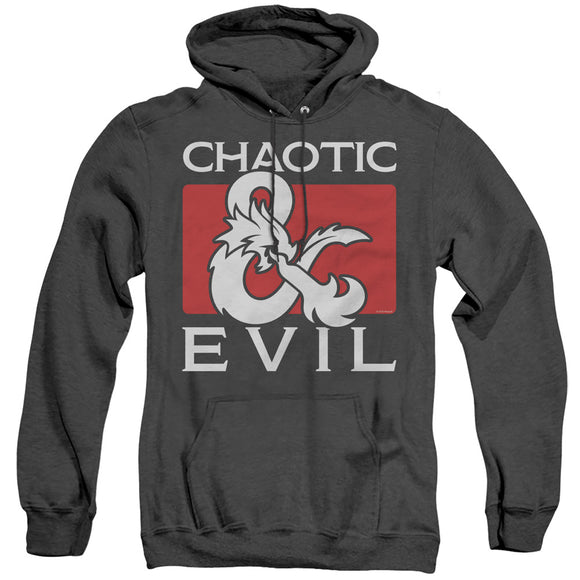 MEN'S DUNGEONS AND DRAGONS CHAOTIC EVIL HEATHER PULLOVER HOODIE
