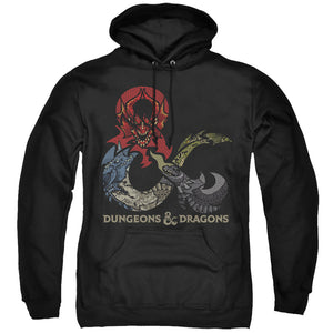 MEN'S DUNGEONS AND DRAGONS - DRAGONS IN DRAGONS PULLOVER HOODIE