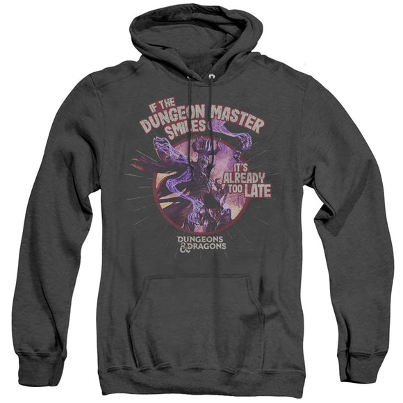 MEN'S DUNGEONS AND DRAGONS DUNGEON MASTER SMILES HEATHER PULLOVER HOODIE