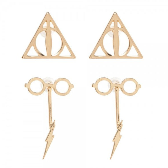 HARRY POTTER DOUBLE DROP EARRING SET - Blue Culture Tees