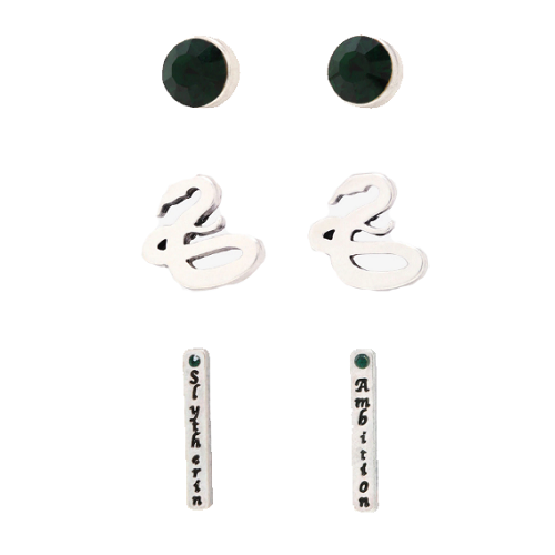 HARRY POTTER SLYTHERIN 3PC EARRING SET