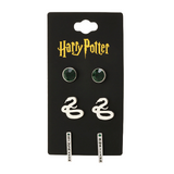 HARRY POTTER SLYTHERIN 3PC EARRING SET - Blue Culture Tees