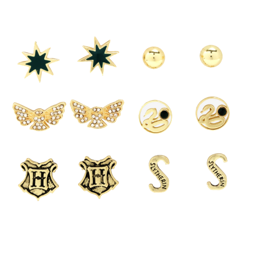 HARRY POTTER SLYTHERIN 6PC EARRING SET