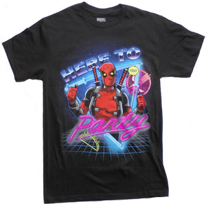 MEN'S DEADPOOL HERE TO PARTY TEE - Blue Culture Tees
