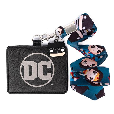 Funko Pop! by Loungefly DC Comics Superhero Lanyard with Cardholder