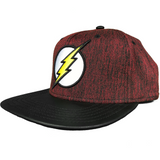 DC COMICS FLASH FAUX LEATHER FLAT BILL SNAPBACK - Blue Culture Tees