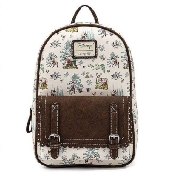 Loungefly Disney Bambi Scenes AOP Mini Backpack