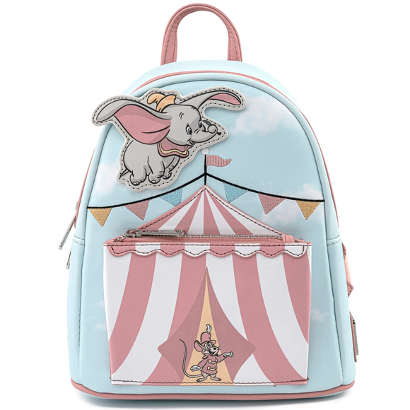 Loungefly Disney Dumbo Flying Circus Tent Mini Backpack