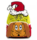 LOUNGEFLY DR SEUSS THE GRINCH AND MAX MINI BACKPACK - PREORDER