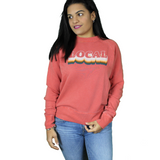JUNK FOOD WOMEN'S LONG SLEEVE LOVER RAINBOW PULLOVER - Blue Culture Tees