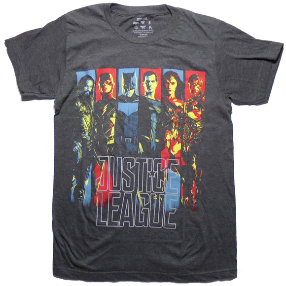 MEN'S JUSTICE LEAGUE BANNER TEE - Blue Culture Tees