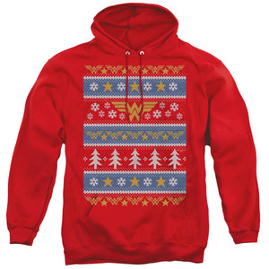MEN'S DC WONDER WOMAN WONDER WOMAN CHRISTMAS SWEATER PULLOVER HOODIE