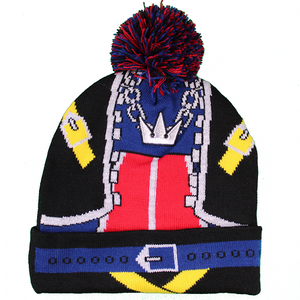 DISNEY KINGDOM HEARTS SORA KNITTED CUFF POM BEANIE - Blue Culture Tees