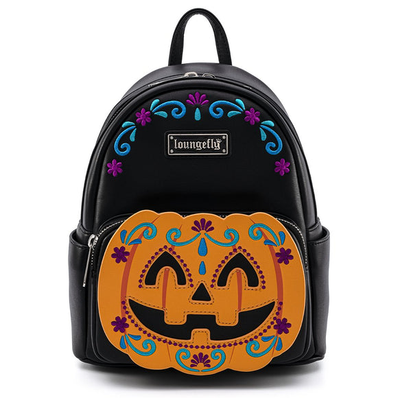 LOUNGEFLY PUMPKIN HALLOWEEN MINI BACKPACK