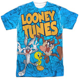 MEN'S LOONEY TUNES COLLAGE OF CHARACTERS SUBLIMATED TEE