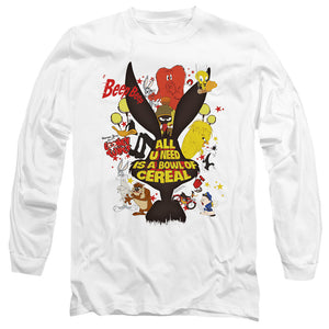 MEN'S LOONEY TUNES CEREAL LONG SLEEVE TEE