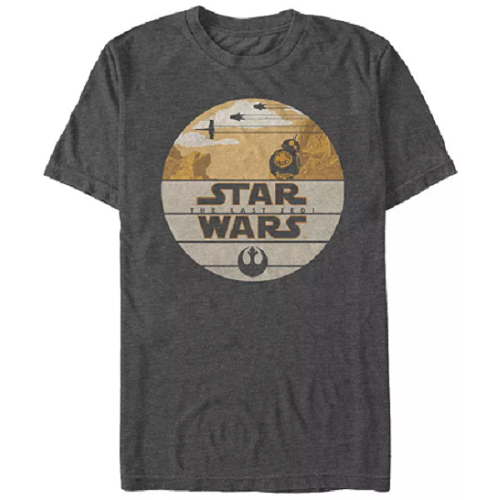 MEN'S STAR WARS THE LAST JEDI BB-8 TEE - Blue Culture Tees