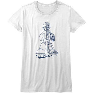 WOMEN'S MEGA MAN BLUEPRINT TEE