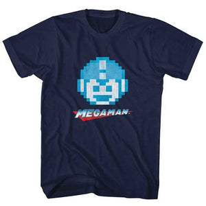 MEN'S MEGA MAN MEGAFACE LIGHTWEIGHT TEE - Blue Culture Tees