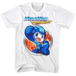 MEN'S MEGA MAN POWERED UP LIGHTWEIGHT TEE - Blue Culture Tees