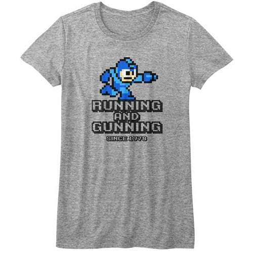WOMEN'S MEGA MAN RUNNING AND GUNNING TEE