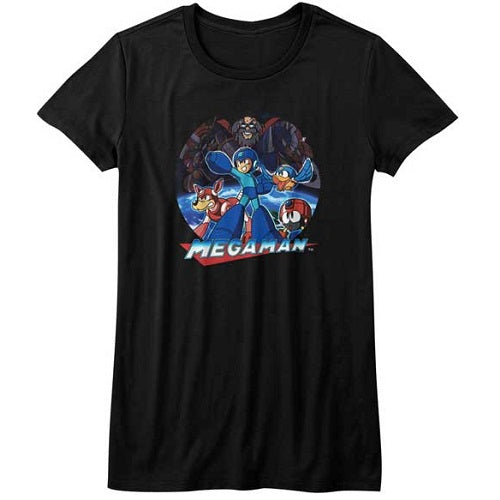 WOMEN'S MEGA MAN MEGAMAN COLLAGE TEE