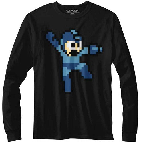 MEN'S MEGA MAN JUMPMAN LONG SLEEVE - Blue Culture Tees