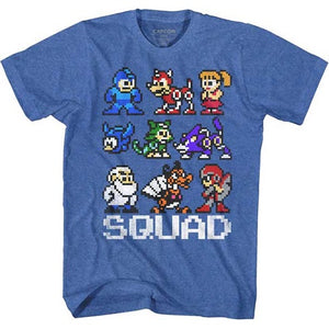 MEN'S MEGA MAN SQUAD LIGHTWEIGHT TEE - Blue Culture Tees