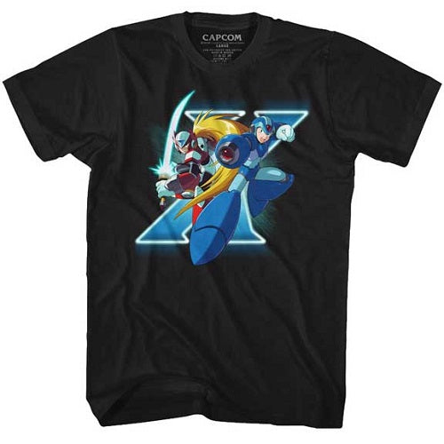 MEN'S MEGA MAN X AND ZERO TEE - Blue Culture Tees