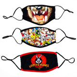 Looney Tunes 3 Pack Adjustable Face Covers