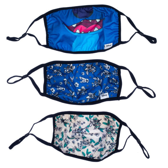 Disney Lilo & Stitch 3 Pack Adjustable Face Covers