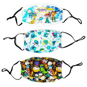 Nickelodeon Rugrats 3 Pack Adjustable Face Covers