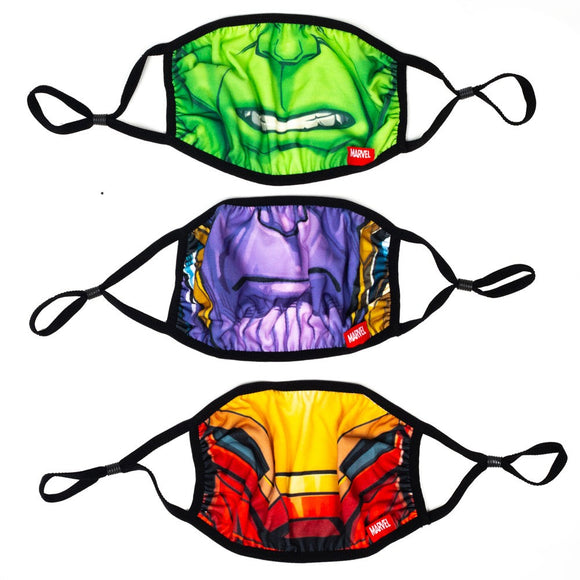 Marvel Big Face 3 Pack Adjustable Face Covers