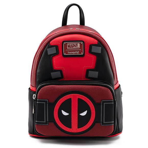 LOUNGEFLY MARVEL DEADPOOL MERC W/A MOUTH MINI BACKPACK