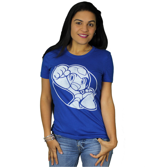 JUNIORS MEGA MAN FIST PUMP TEE - Blue Culture Tees