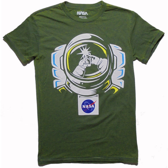 MEN'S NASA SPACE SELFIE TEE - Blue Culture Tees
