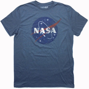 MEN'S NASA LOGO BLUE TEE - Blue Culture Tees