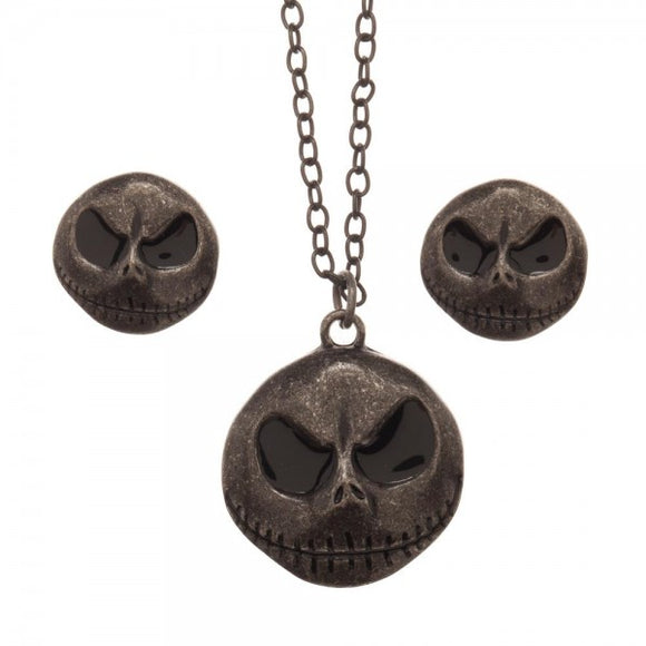 THE NIGHTMARE BEFORE CHRISTMAS JACK NECKLACE AND EARRING SET - Blue Culture Tees