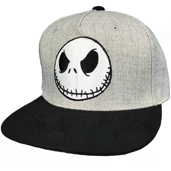 Disney The Nightmare Before Christmas Jack Face Snapback Hat - Blue Culture Tees