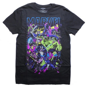 Men's Marvel Neon Group Tee - Blue Culture Tees