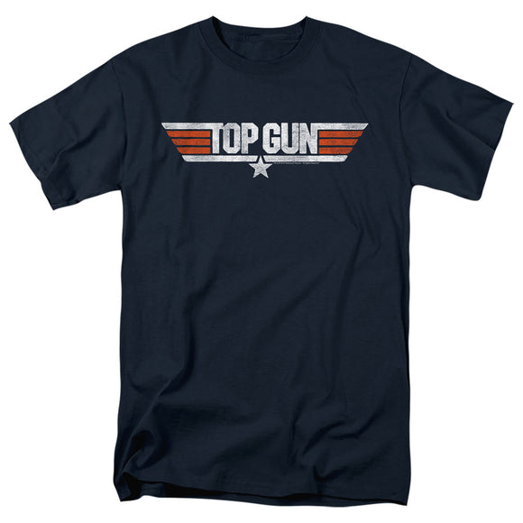MEN'S TOP GUN DISTRESSED LOGO TEE