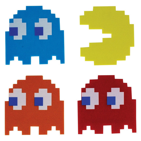 PAC-MAN RETRO DRINK COASTERS SET - Blue Culture Tees