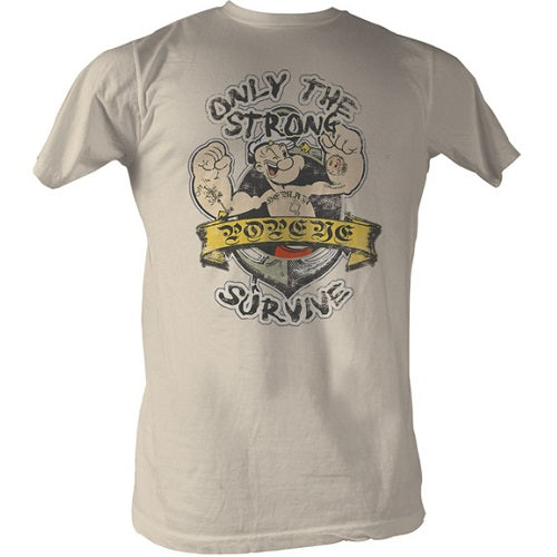 MEN'S POPEYE ONLY THE STRONG LIGHTWEIGHT TEE - Blue Culture Tees