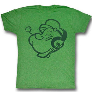 MEN'S POPEYE HEADPHONES LIGHTWEIGHT TEE - Blue Culture Tees