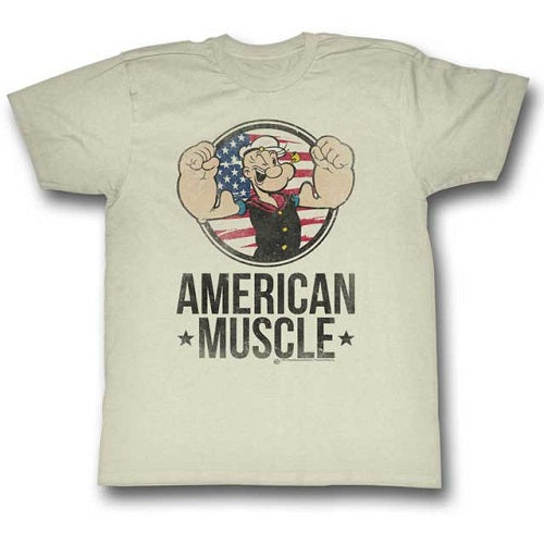 MEN'S POPEYE MUSCLE LIGHTWEIGHT TEE - Blue Culture Tees