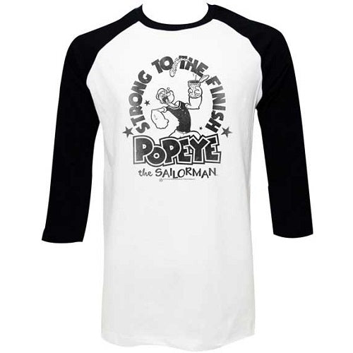 MEN'S POPEYE STRONG FINISH RAGLAN TEE