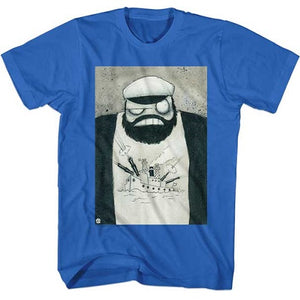 MEN'S POPEYE CRAZY BRUT LIGHTWEIGHT TEE - Blue Culture Tees